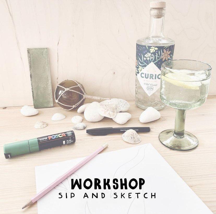 sip and sketch workshop